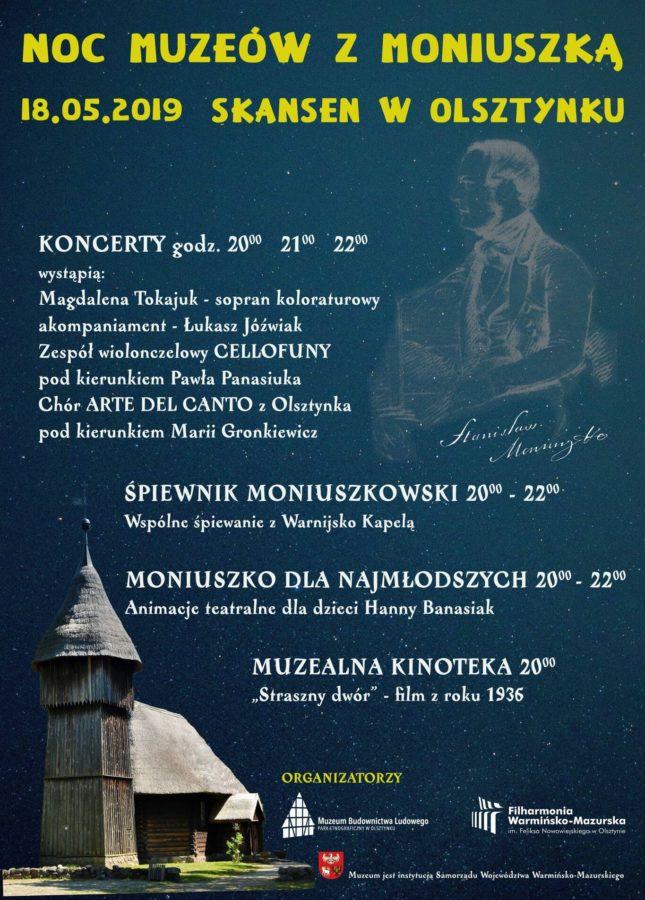 plakat noc muzeów moniuszki